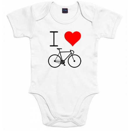 Cyclocadeau ILoveCycling - Romper wit